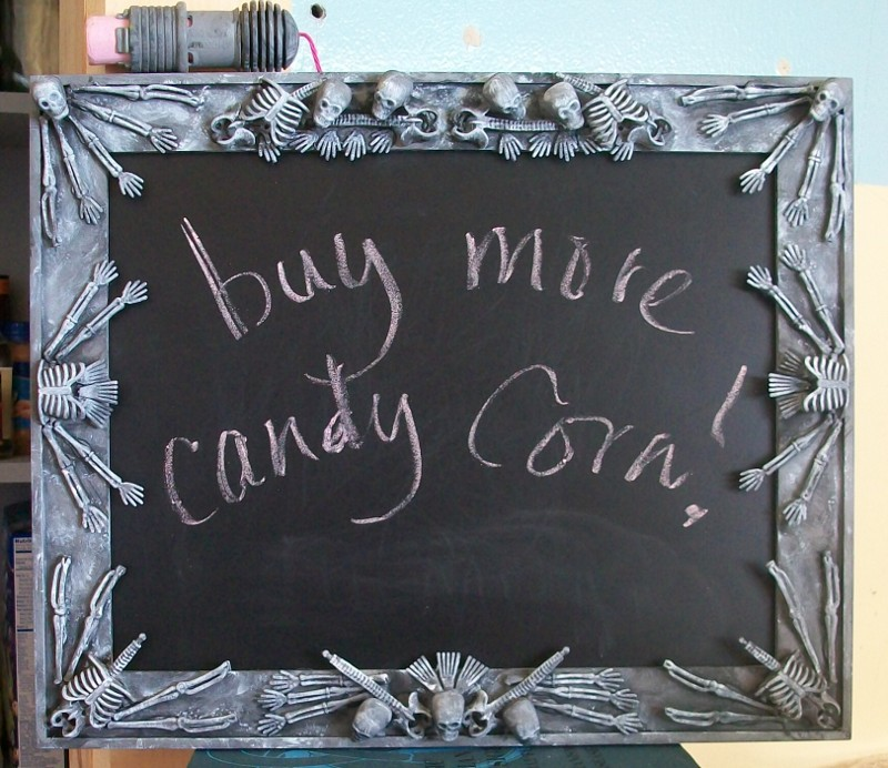 bone cathedral halloween chalkboard